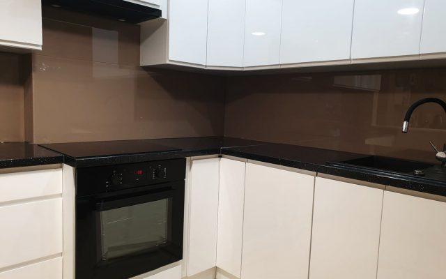 panel szklany kuchnia lakobel brown white 01