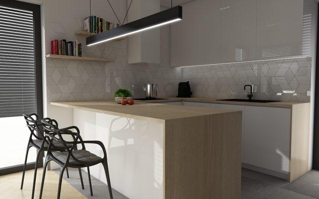 panel szklany kuchnia studio bialy fala abstrakcja bezowy plytka super concept