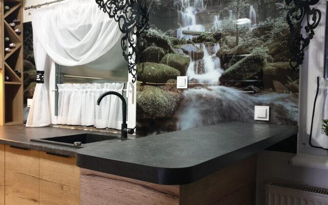panel szklany polkowice góry widok krajobraz wyspa kuchnia
